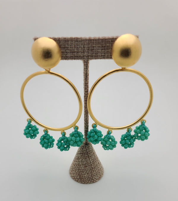 Celia Earrings (Circle/Turquoise)