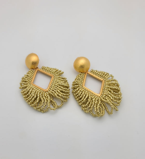 Ema Beaded Earrings (Small/Gold)