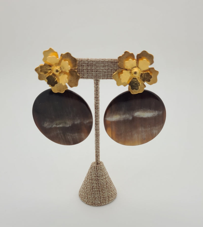 Horn Disk Earrings (Montana Horn Collection)