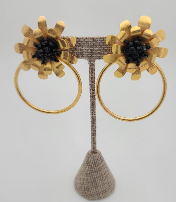 Sunflower Hoops (Black)