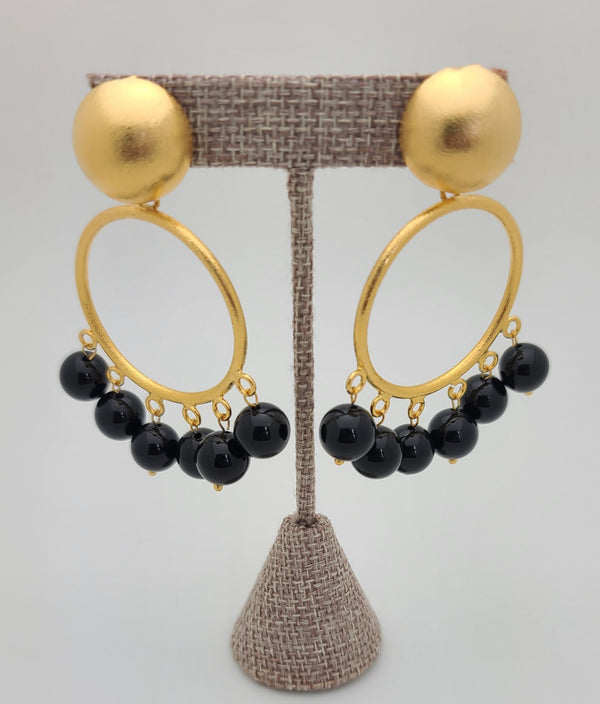 Isadora Hoops (Black Agate)