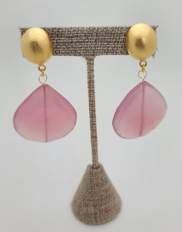 Rose Quartz Drop Earrings (SOLD OUT)