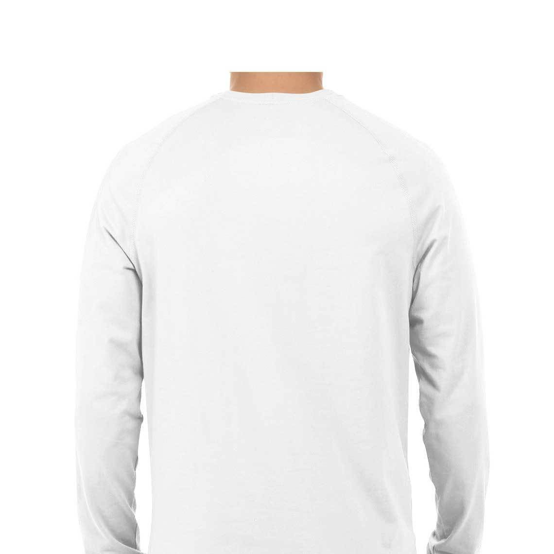 Men's Basics - White Round Neck Full Sleeves T-shirt