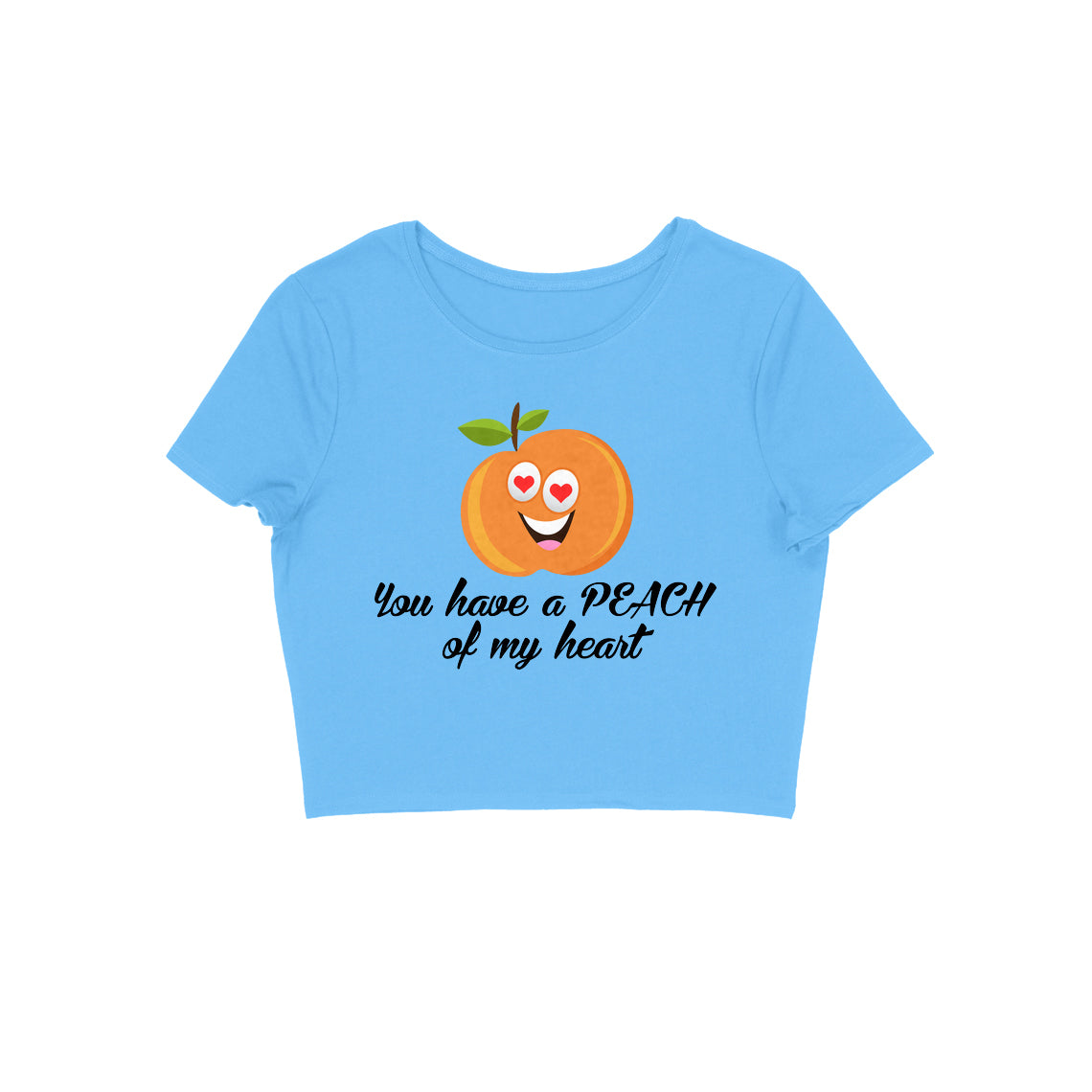 Peach Of My Heart - Women's Crop Top