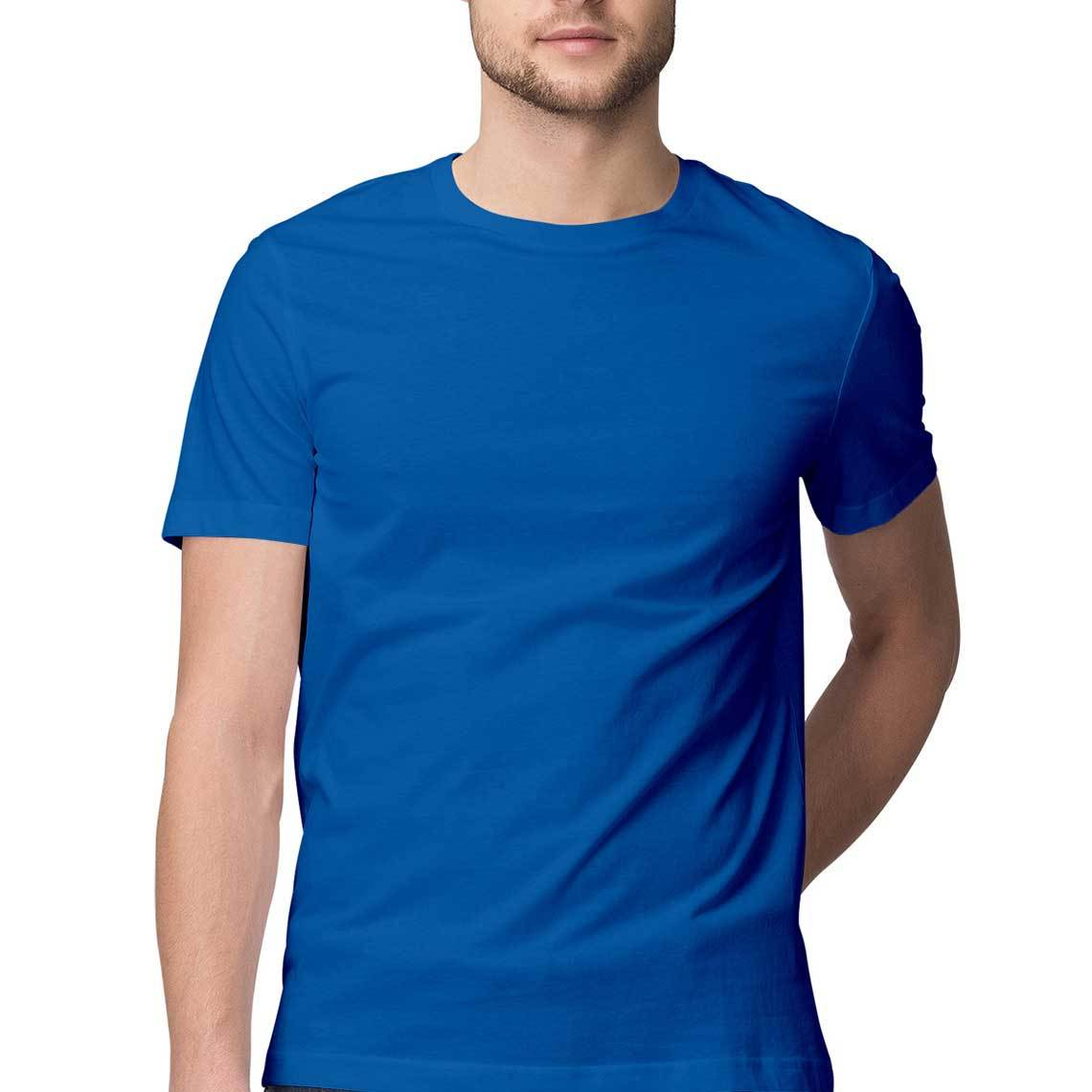Men's Basics - Royal Blue Half Sleeves Round Neck T-shirt