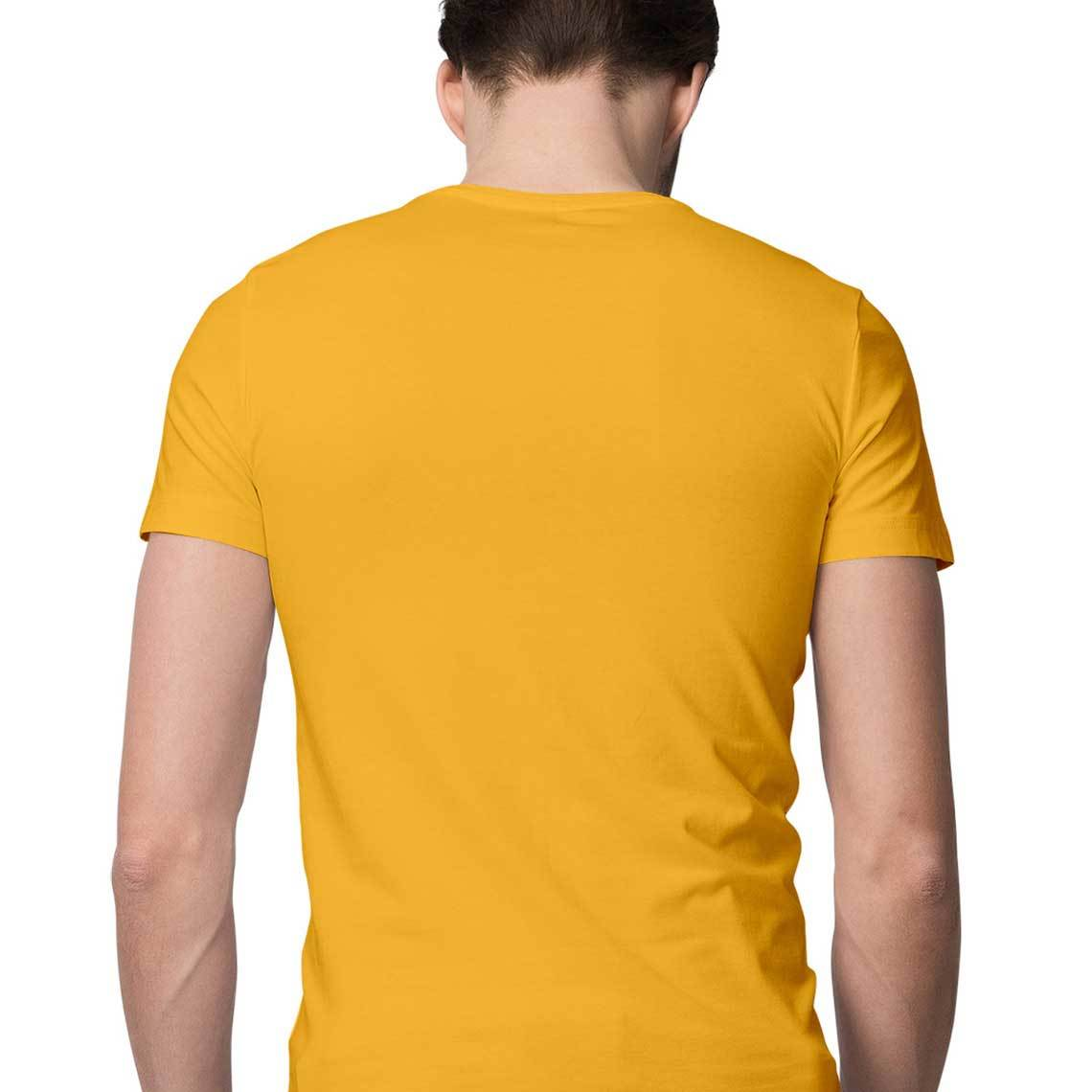 Men's Basics - Golden Yellow Half Sleeves Round Neck T-shirt