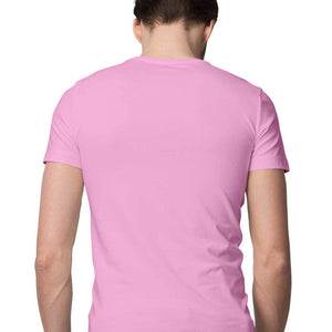 Men's Basics - Light Pink Half Sleeves Round Neck T-shirt