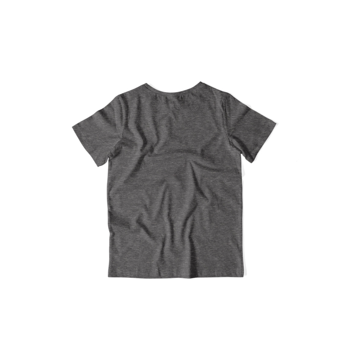 Kids's Basics - Charcoal Grey Half Sleeves Round Neck T-shirt