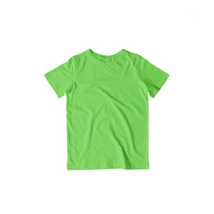Kids's Basics - Liril Green Half Sleeves Round Neck T-shirt
