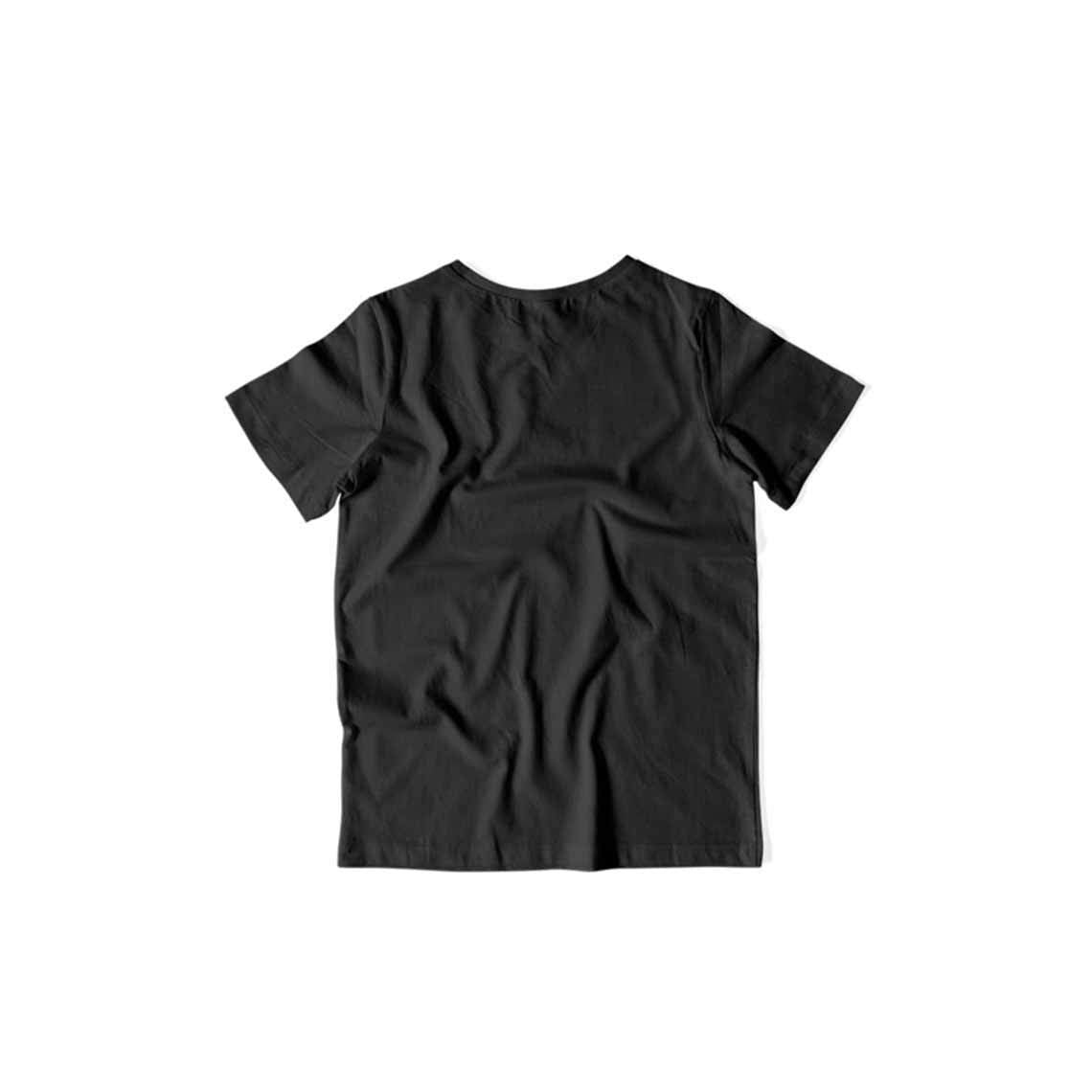 Kids's Basics - Black Half Sleeves Round Neck T-shirt