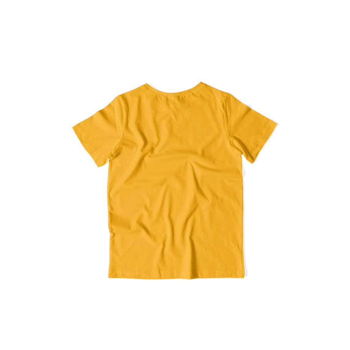 Kids's Basics - Golden Yellow Half Sleeves Round Neck T-shirt