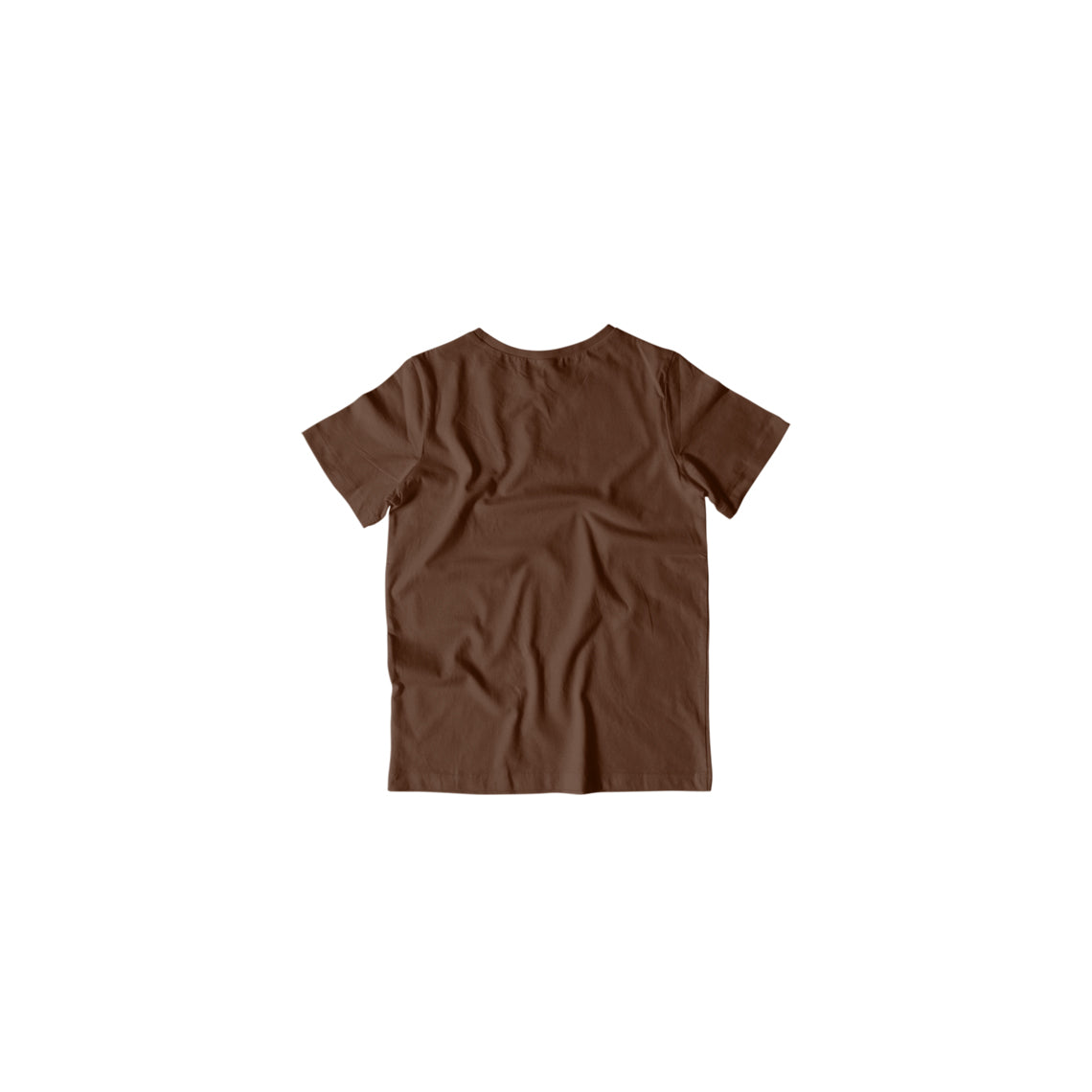 Toddler's Basics - Coffee Brown Half Sleeves Round Neck T-shirt