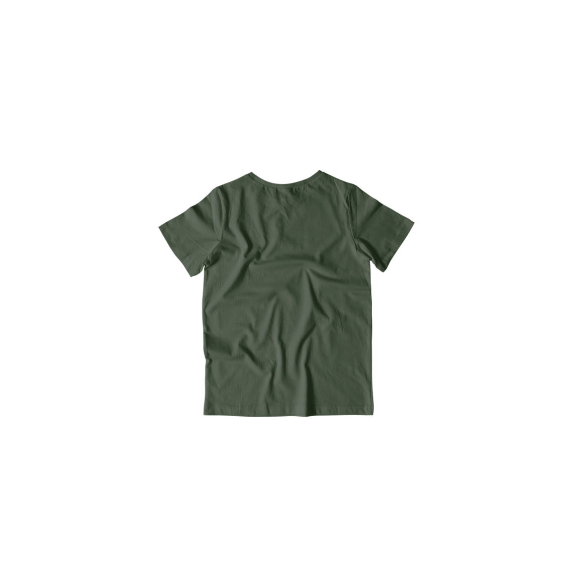 Toddler's Basics - Olive Green Half Sleeves Round Neck T-shirt