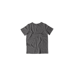 Toddler's Basics - Charcoal Grey Half Sleeves Round Neck T-shirt