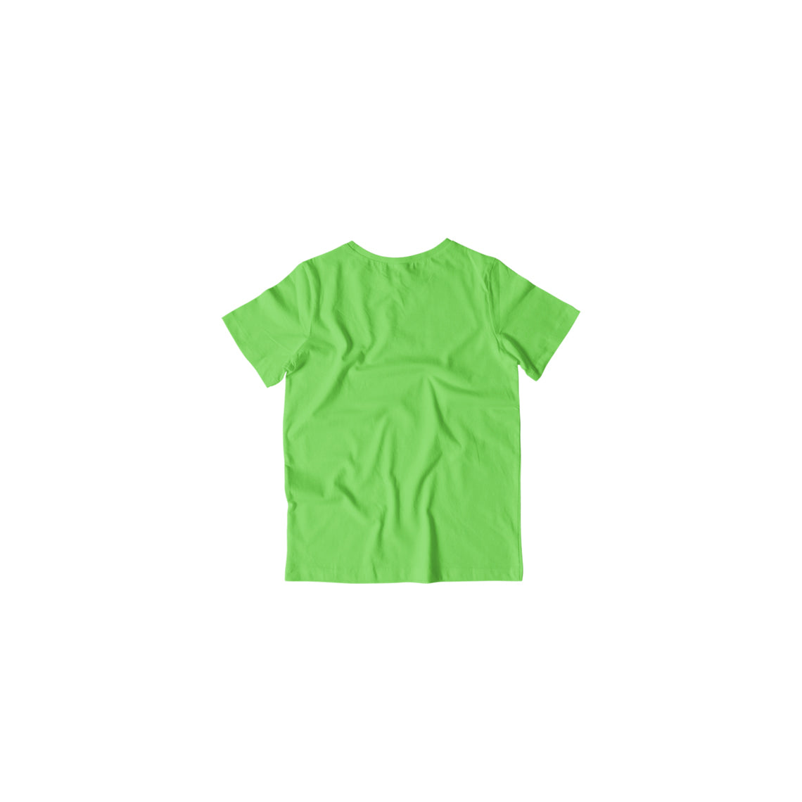 Toddler's Basics - Liril Green Half Sleeves Round Neck T-shirt