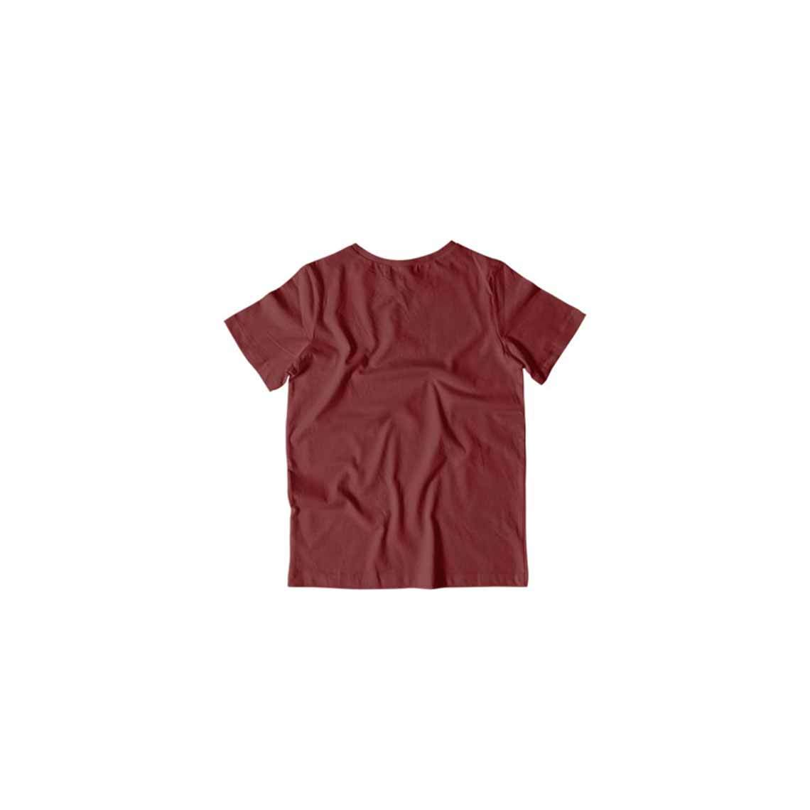 Toddler's Basics - Maroon Half Sleeves Round Neck T-shirt
