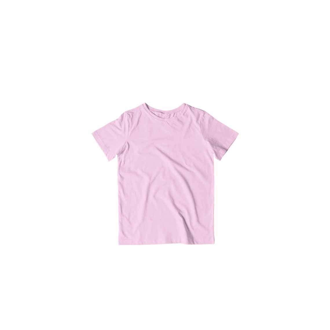 Toddler's Basics - Light Pink Half Sleeves Round Neck T-shirt