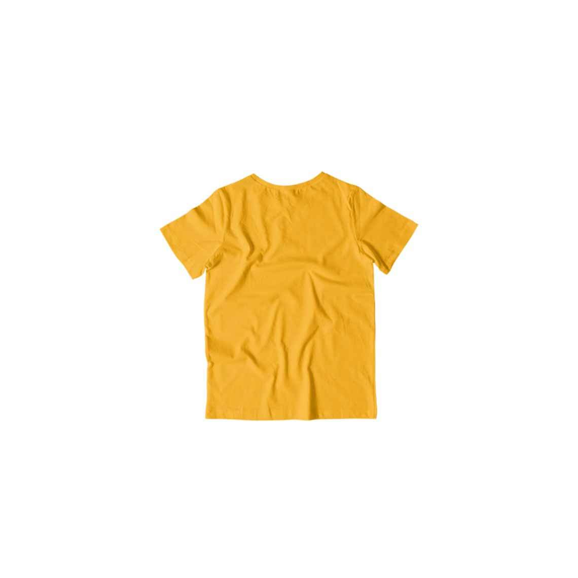 Toddler's Basics - Golden Yellow Half Sleeves Round Neck T-shirt