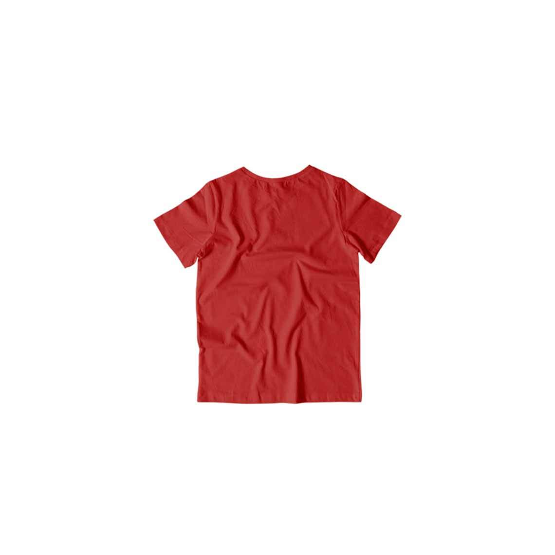 Toddler's Basics - Red Half Sleeves Round Neck T-shirt