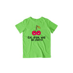 Load image into Gallery viewer, Eat, Drink & Be Cherry - Kids Half Sleeve T-shirt