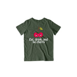 Load image into Gallery viewer, Eat, Drink & Be Cherry | Kids Half Sleeve T-shirt