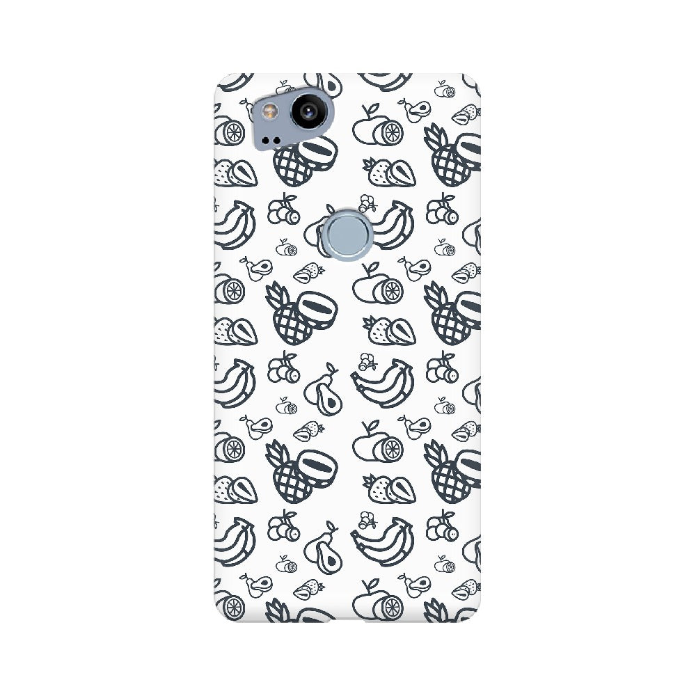 Phone Case for Google Pixel - Mixed Fruit White