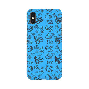 Phone Case for Apple iPhone - Mixed Fruit Blue