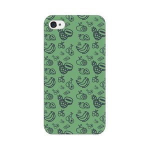 Phone Case for Apple iPhone - Mixed Fruit Green