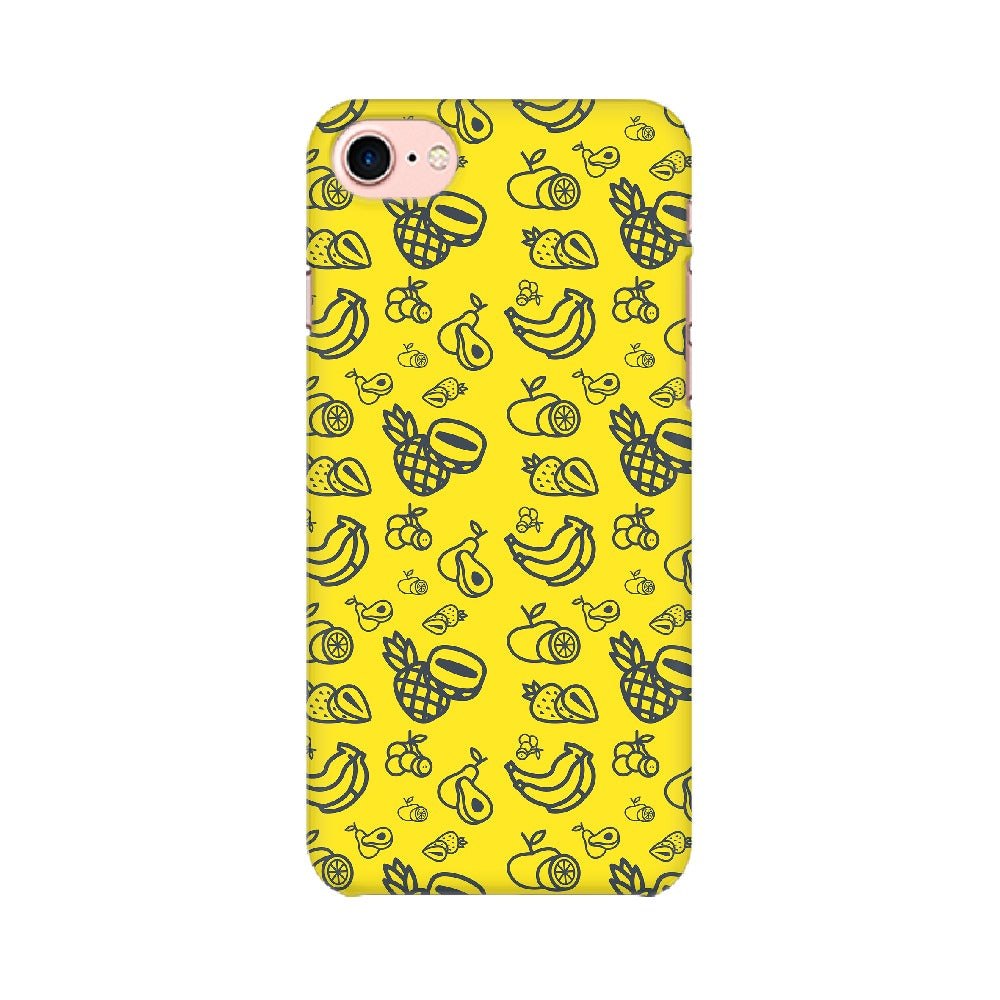 Phone Case for Apple iPhone - Mixed Fruit Yellow