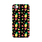 Load image into Gallery viewer, Phone Case for Apple iPhone - Pineapple & Water Melon Black