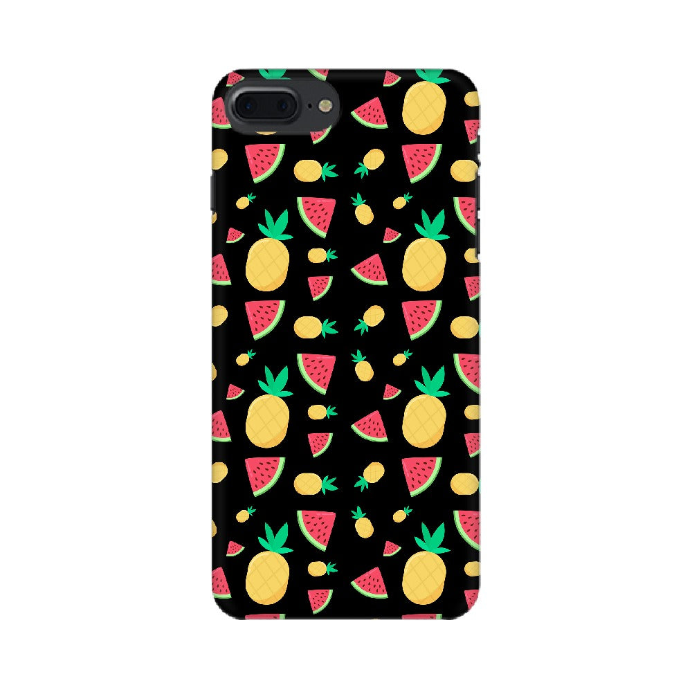 Phone Case for Apple iPhone - Pineapple & Water Melon Black