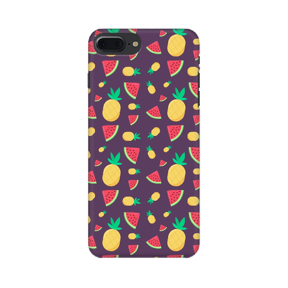 Phone Case for Apple iPhone - Pineapple & Water Melon Purple