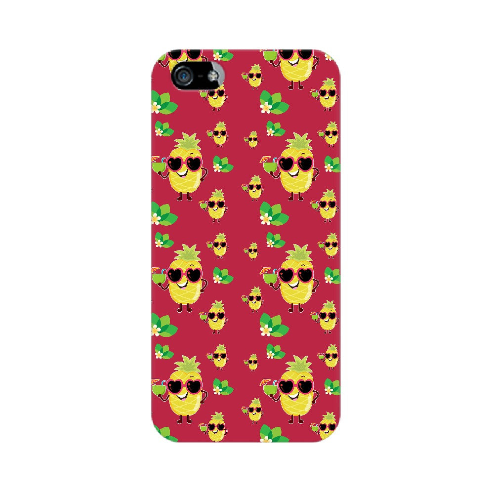 Phone Case for Apple iPhone - Just Chillin' Maroon