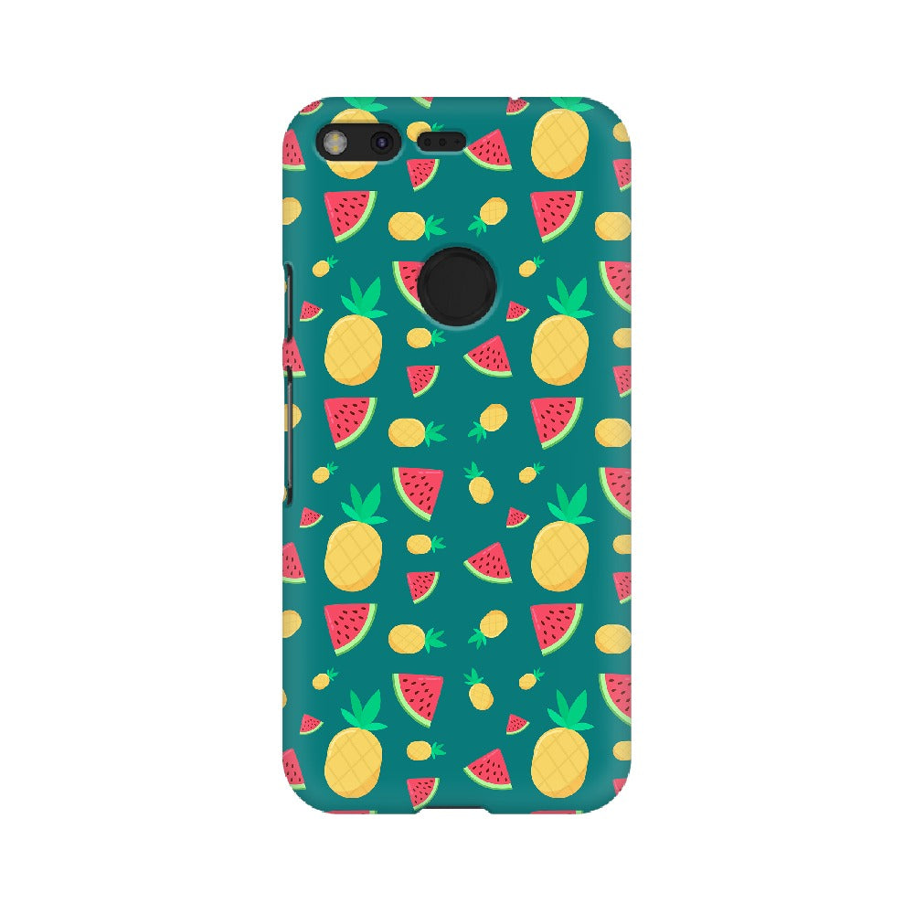 Phone Case for Google Pixel - Pineapple & Water Melon Green
