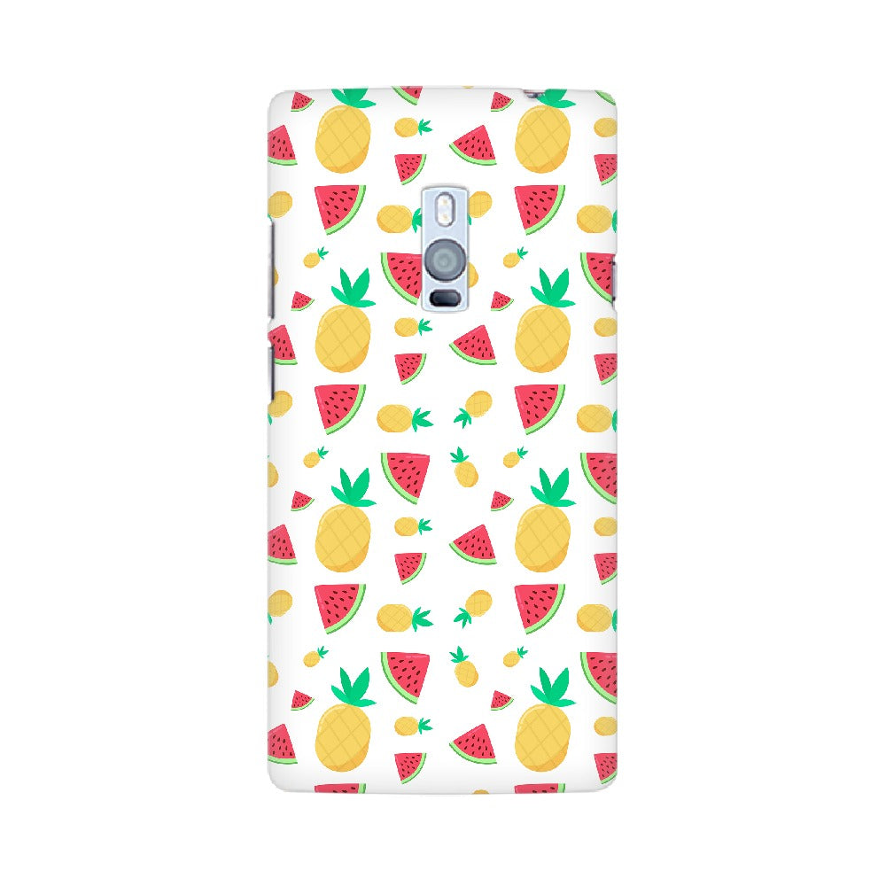 Phone Case for OnePlus - Pineapple & Water Melon White