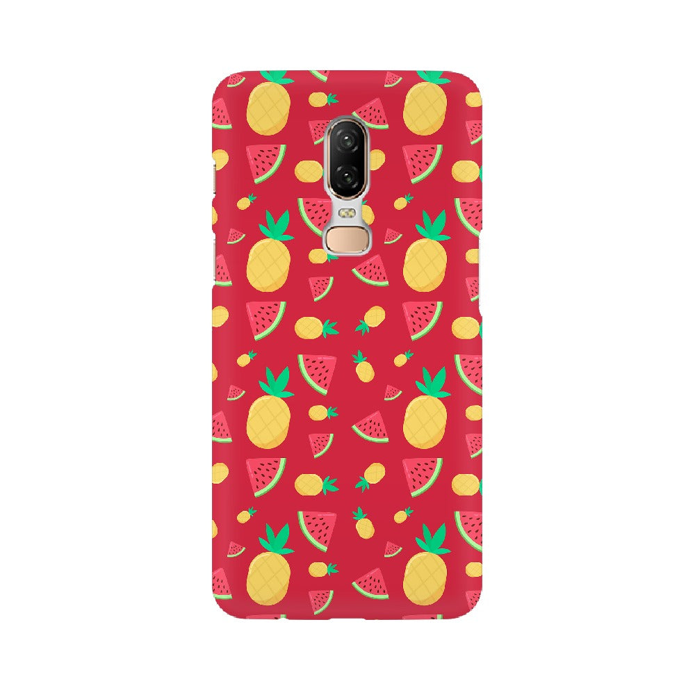 Phone Case for OnePlus - Pineapple & Water Melon Red