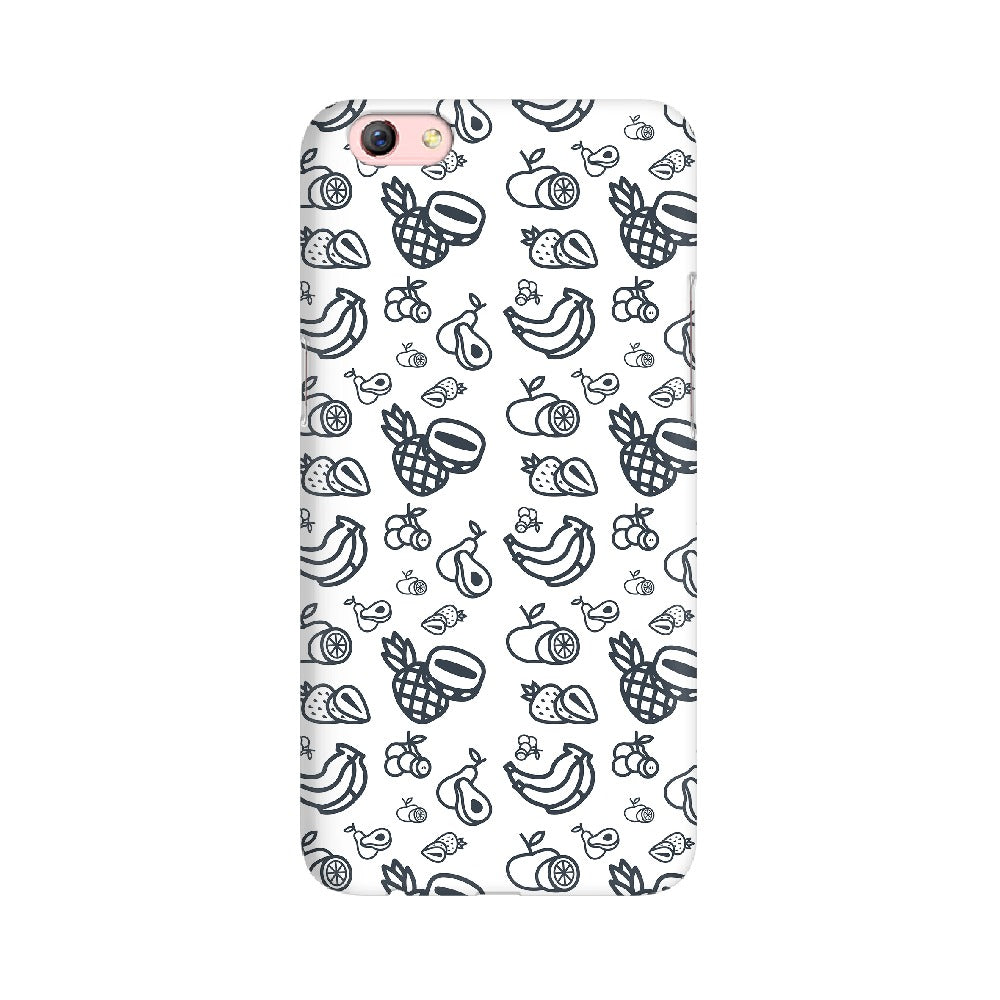 Phone Case for Oppo - Mixed Fruit White
