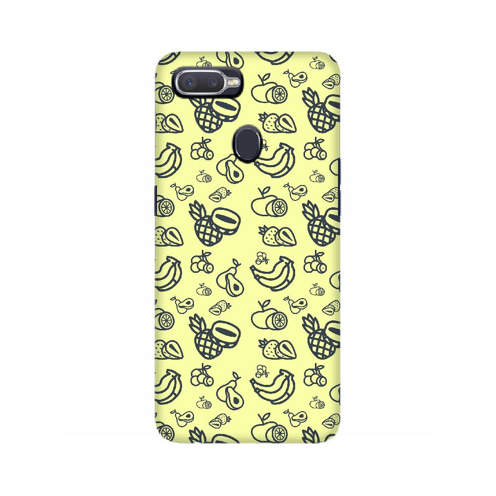 Phone Case for Oppo - Mixed Fruit Light Yellow