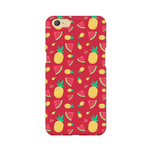 Phone Case for Oppo - Pineapple & Water Melon Red