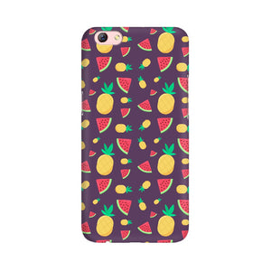 Phone Case for Oppo - Pineapple & Water Melon Purple