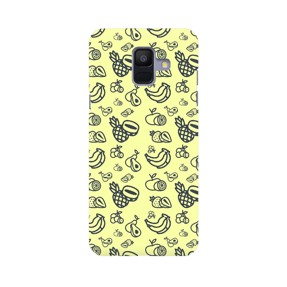 Phone Case for Samsung - Mixed Fruit Light Yellow