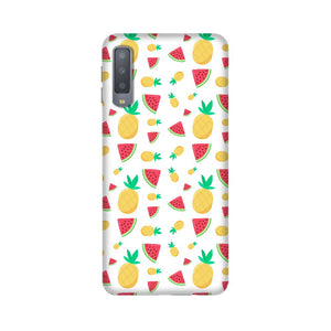 Phone Case for Samsung - Pineapple & Water Melon White