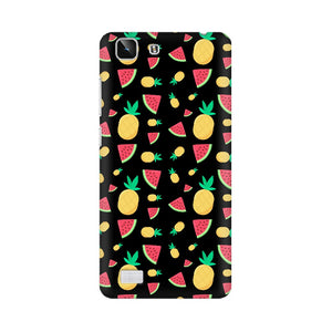Phone Case for Vivo - Pineapple & Water Melon Black
