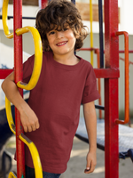 Load image into Gallery viewer, Kids's Basics - Maroon Half Sleeves Round Neck T-shirt