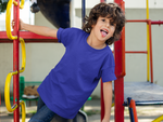 Load image into Gallery viewer, Kids's Basics - Royal Blue Half Sleeves Round Neck T-shirt