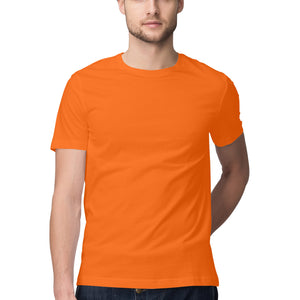 Men's Basics - Orange Half Sleeves Round Neck T-shirt