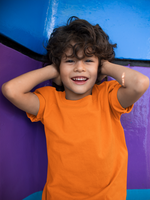 Load image into Gallery viewer, Kids's Basics - Orange Half Sleeves Round Neck T-shirt