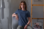 Load image into Gallery viewer, Women's Basics - Navy Blue Half Sleeves Round Neck T-shirt