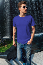 Load image into Gallery viewer, Men's Basics - Royal Blue Half Sleeves Round Neck T-shirt