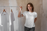 Load image into Gallery viewer, Women's Basics - White Half Sleeves Round Neck T-shirt